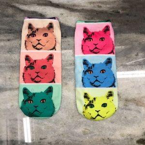 Cute Multicolor Cat Socks
